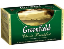 Чай Greenfield Classic Breakfast, черн., 25 пакетиков*2 г. Greenfield 0354-10
