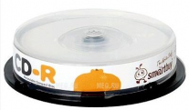 Компакт-диск CD-R SmartBuy 52х Cake Box 10шт.Fresh-Watermelon/Kiwifruit/Lemon/Orange