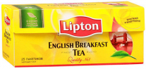 Чай Lipton English Breakfast черн., 25 пакетиков *2,5г.