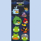 Наклейки Angry birds Space 3D 14*34 см  84469