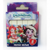 Мелки белые   6 цв. Enchantimals Centrum, квадратные 89267
