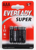 Батарейка Eveready R03 BL-4 ААА блистер 4шт/уп