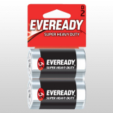 Батарейка Eveready R20 BL-2 блистер 2шт/уп