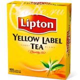 Чай Lipton Yellow Label, черн., 100 пакетиков*2 г. Lipton
