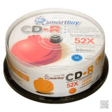 Компакт-диск CD-R SmartBuy 52х Cake Box 50шт.Fresh-Watermelon/Kiwifruit/Lemon/Orange